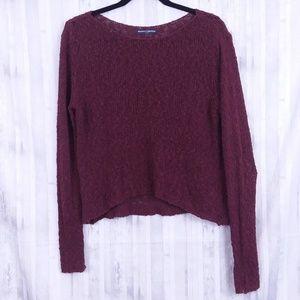 Brandy Melville burgandy crop sweater OS